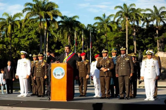 Presidente Maduro y militares este 24 de junio de 2019