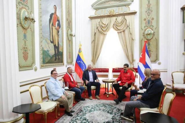 Presidente Maduro sostuvo encuentro con su homólogo de Cuba