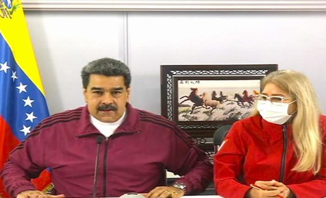 Presidente Nicolás Maduro y Cilia Flores
