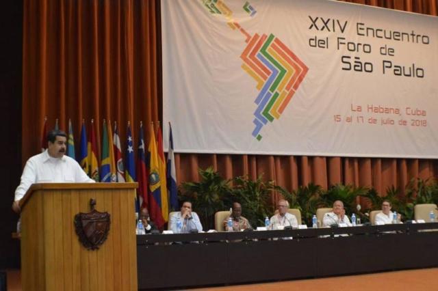 Maduro: Foro de Sao Paulo es el espacio de surgimiento de la nueva integración latinoamericana Maduro18