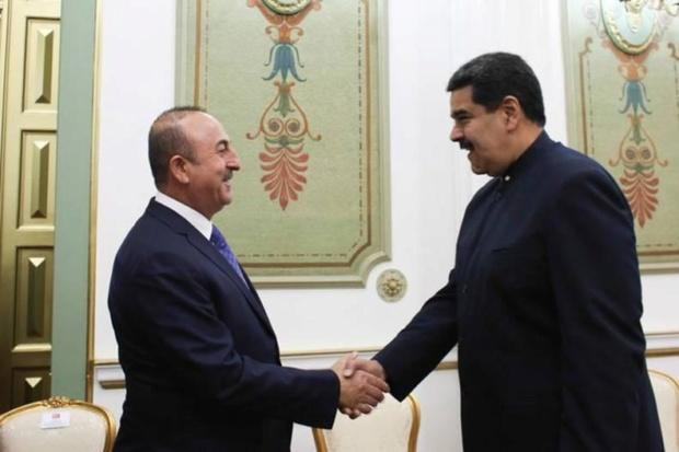 Nicolás Maduro y el Canciller de Turquía