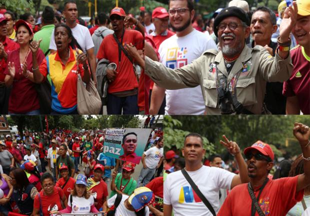 Venezolanos apoyan a Maduro