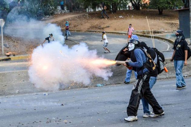 Protestas violentas de la oposición venezolana