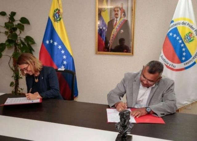 Gobierno venezolano firmó convenio con Cruz Roja para capacitación y formación técnica