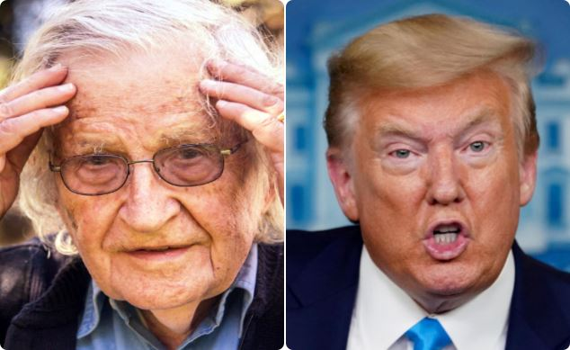 Noam Chomsky y Donald Trump