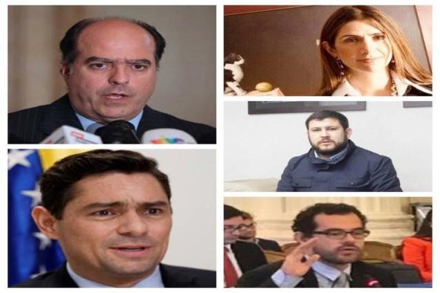 Julio Borges, Carlos Vecchio, David Smolansky, Francisco Márquez Lara y Yael Marciano Cohen