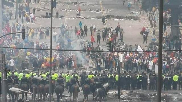 Protestas en Ecuador contra Lenin Moreno
