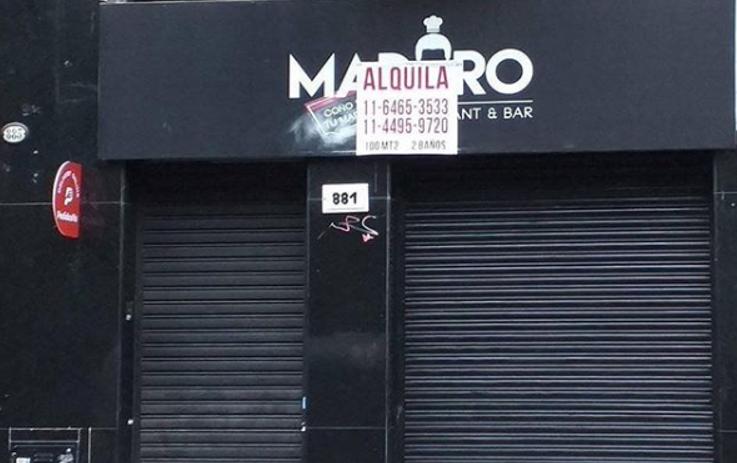 Se secó: Restaurant «Maduro coño e' tu madre» ubicado en Argentina cerró por quiebra Retaur10