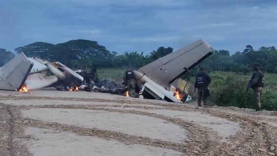 Aeronave del narcotráfico colombiano