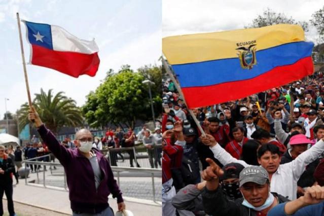 Protestas en Chile y Ecuador