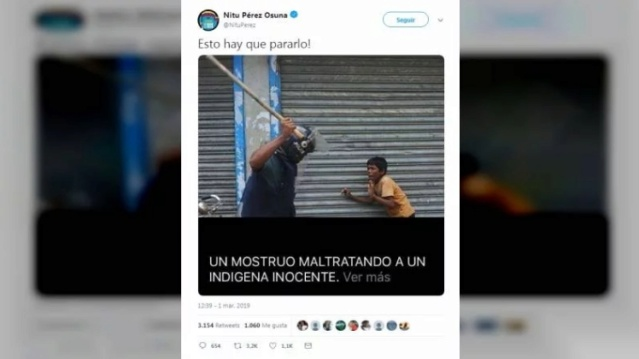 Fuertes criticas contra periodista Nitu Pérez Osuna por difundir fake news diciendo que era Venezuela Scree146