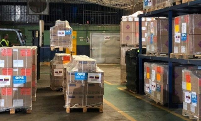 Medicinas enviadas a Venezuela