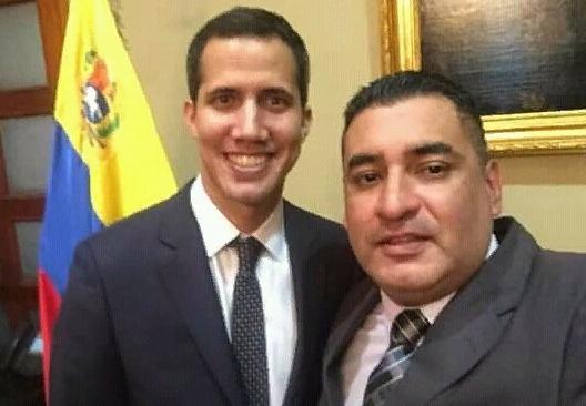 Juan Guaidó y Kevin Javier Rojas Peñaloza