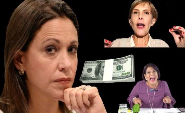 María Corina Machado paga a Nitu y a Patricia Poleo