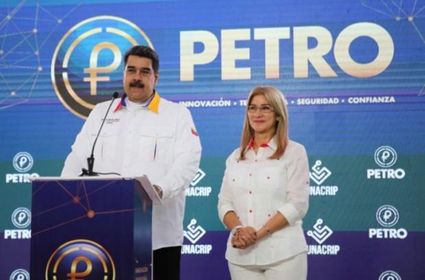 Maduro y Cilia Flores