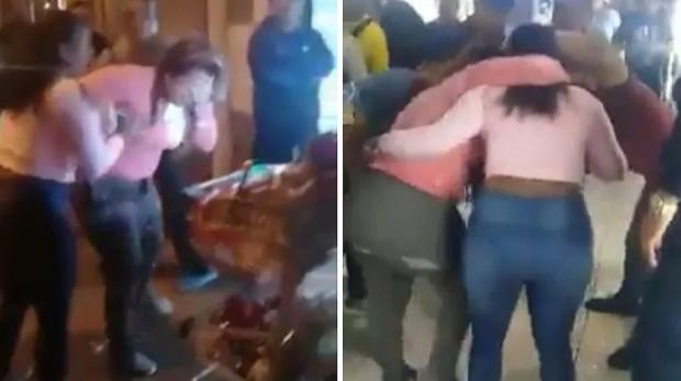 Peruana ataca a venezolana