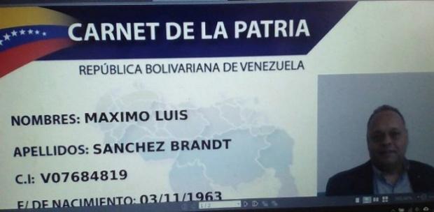 Dirigente de Primero Justicia y alcalde encargado de Chacao sacó su Carnet de la Patria Sin-tc10