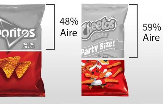 Esta es la cantidad de aire que viene en las bolsas de tus snakcs favoritos Snakcs10