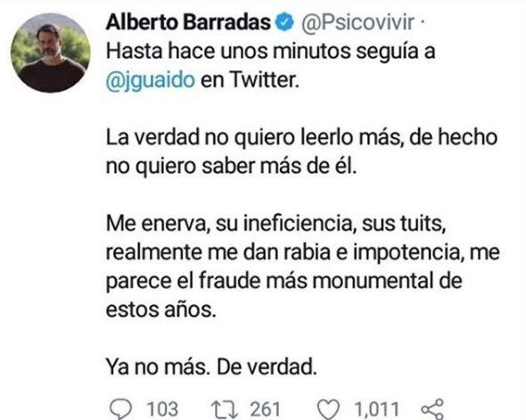 """Artistas venezolanos retiran apoyo a Guaidó en las redes sociales: """"Es un fraude, ya no más"""" Spico10"""