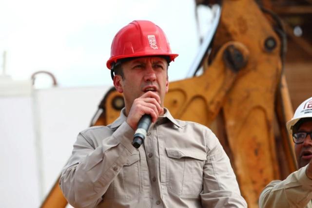 Tareck El Aissami inspeccionó construcción de planta de pellas de Ferrominera del Orinoco Tareck11