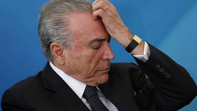 Temer es el presidente más impopular en la historia de Brasil Temerc10
