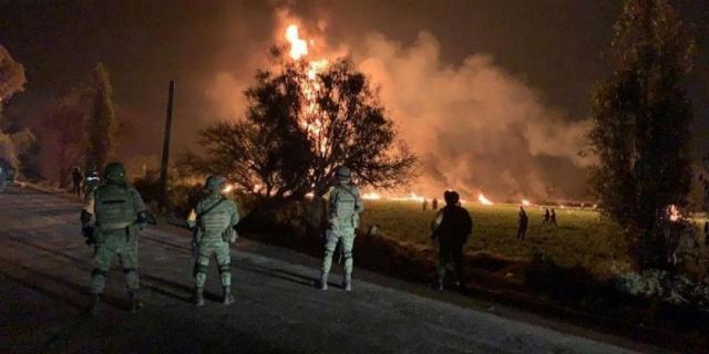 Explosión de un ducto de Pemex en Méxic