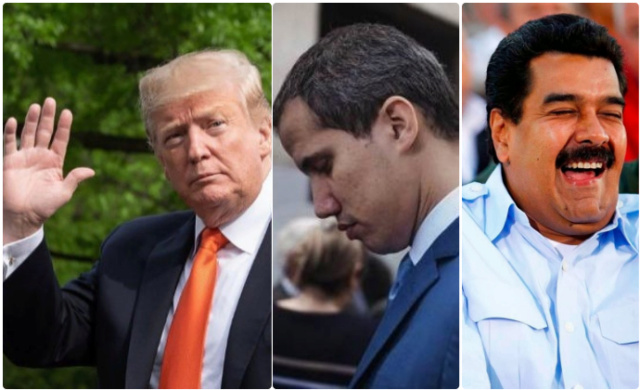 Trump, Guaidó, Maduro
