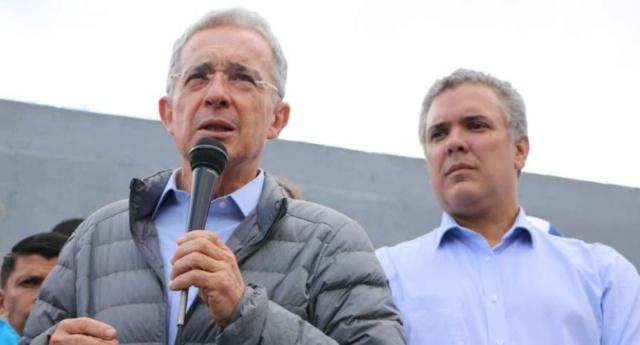 Álvaro Uribe y el subresidente Iván Duque