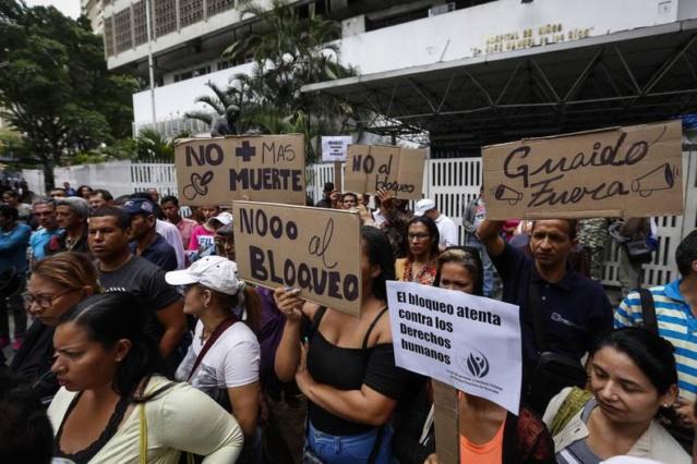 Pacientes venezolanos denuncian bloqueo económico de EEUU