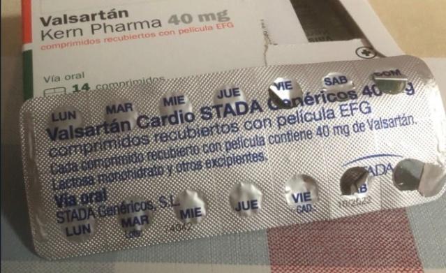 Instituto de Higiene ordenó retirar del mercado venezolano lotes de medicamentos que contienen valsartán Valsar10