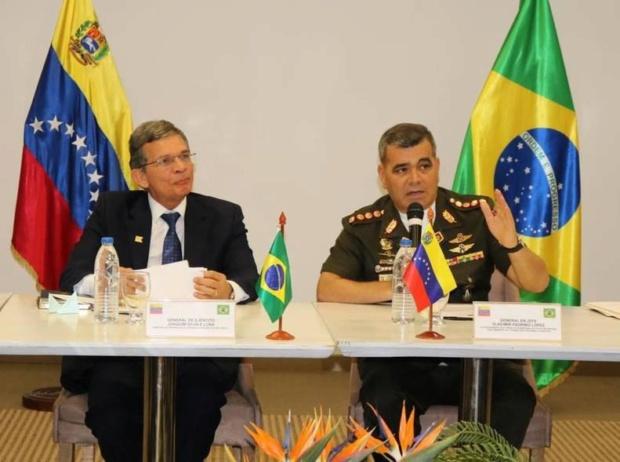 Ministros de Defensa Brasil y Venezuela