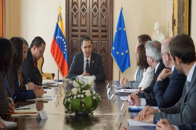 Canciller Arreaza se reunió con Grupo de Contacto de la UE