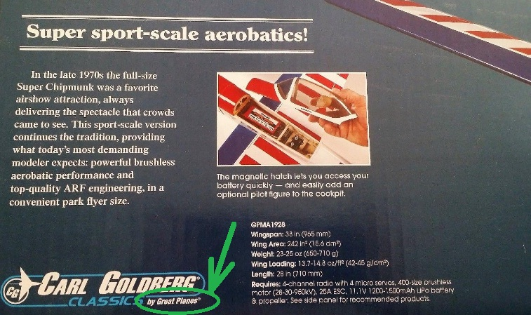 Goldberg Super Chipmunk EP ARF (Great Planes) Sin_tz10