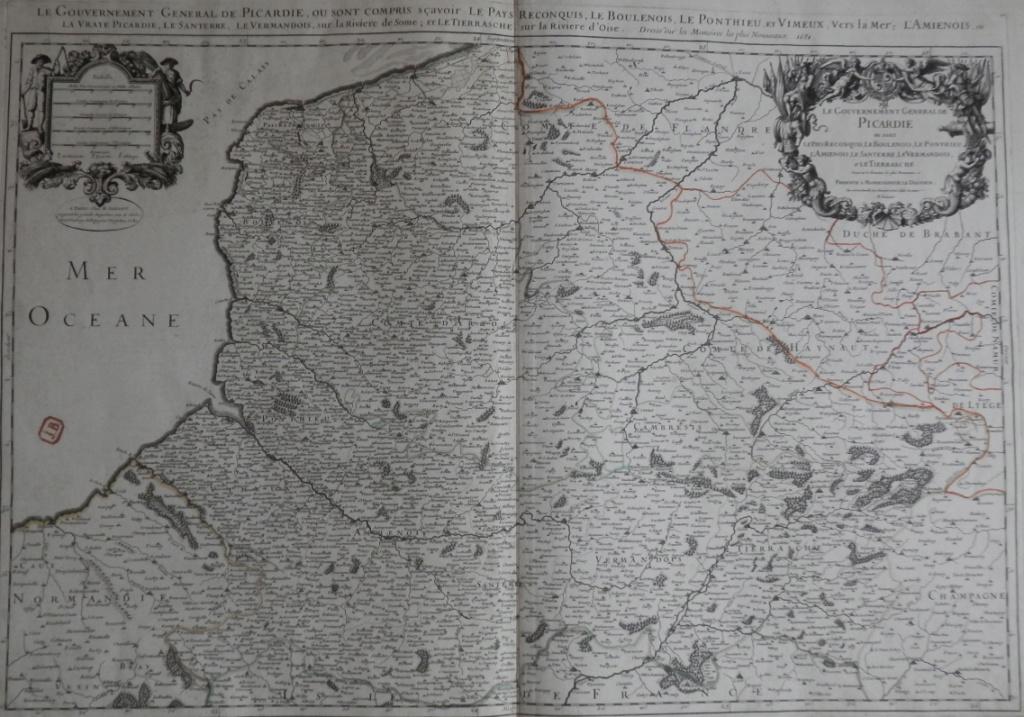 Le pays Reconquis des hauts de France ~1681 + Carte des Flandres Carte10