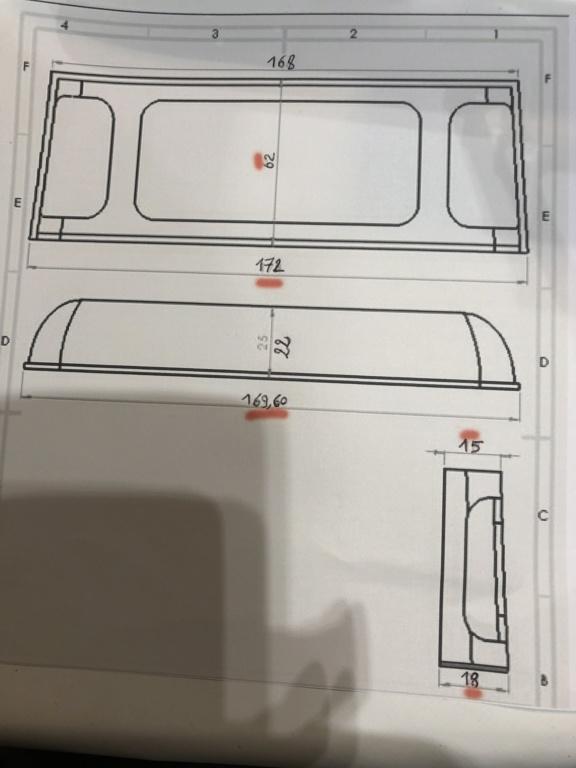 Transformation carrosserie Land Rover D90 en Pickup : Pièce 3D partie arrière Img_0611