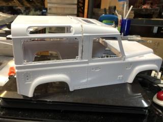 Transformation carrosserie Land Rover D90 en Pickup : Pièce 3D partie arrière Img_0711