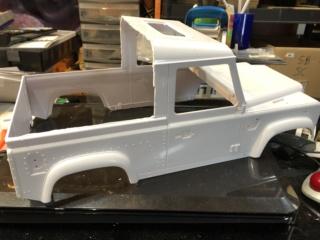 Transformation carrosserie Land Rover D90 en Pickup : Pièce 3D partie arrière Img_0712