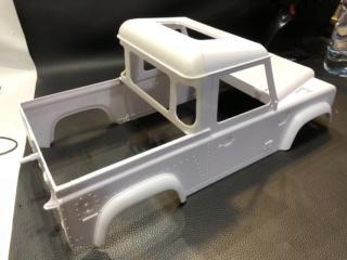 Transformation carrosserie Land Rover D90 en Pickup : Pièce 3D partie arrière Img_0715