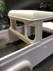 Transformation carrosserie Land Rover D90 en Pickup : Pièce 3D partie arrière Img_0717