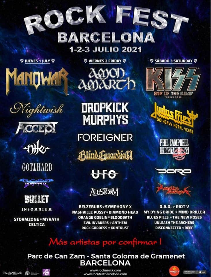 ROCK FEST BARCELONA 2021: Kiss, Judas Priest, Manowar, Foreigner, Dropkick Murphys, Blind Guardian  Img-2010