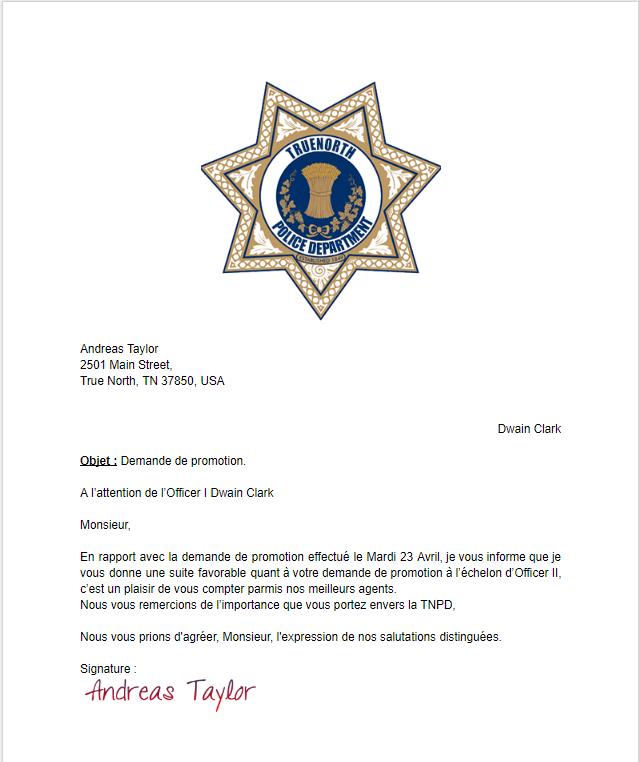 TNPD Demande de Promotion de la Recrue Dwain Clark (2) Tzolzo13
