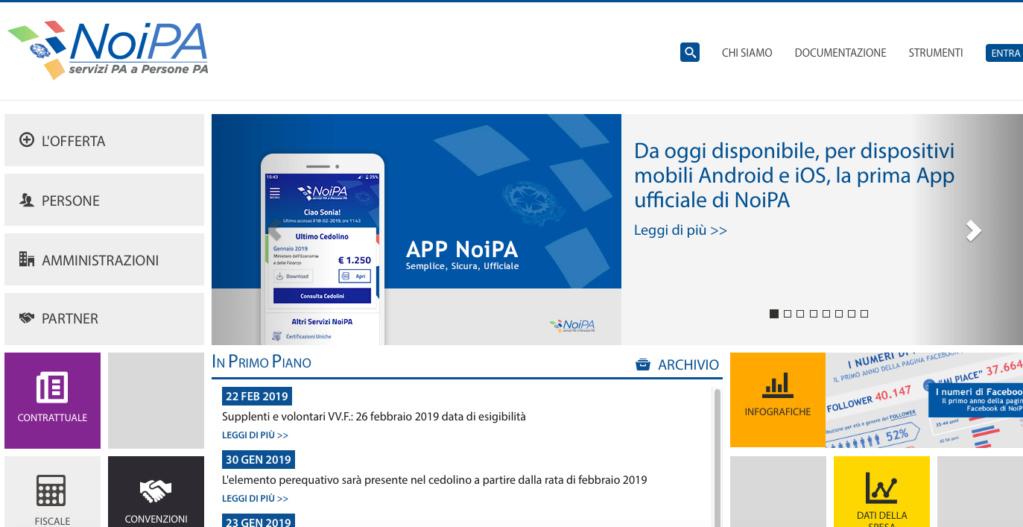 """APP NOIPA MEF  non c'è  """"consultazione pagamenti"""" Scherm12"""