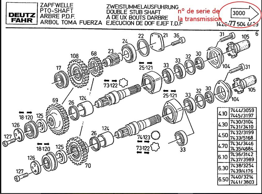 Arbre de pdf deutz dx 6.10 D61110