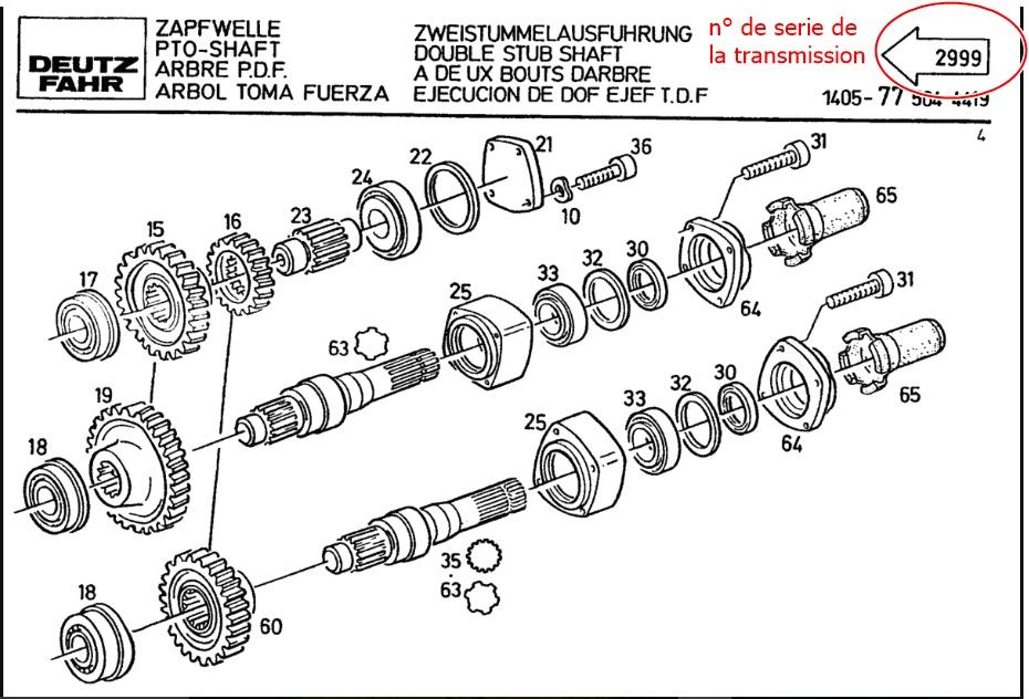 Arbre de pdf deutz dx 6.10 D61210