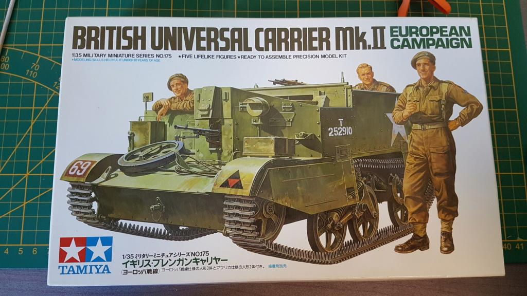 Fil Rouge 2020 : Universal Carrier MK II 1/35 *** Terminé en pg 3 20200221