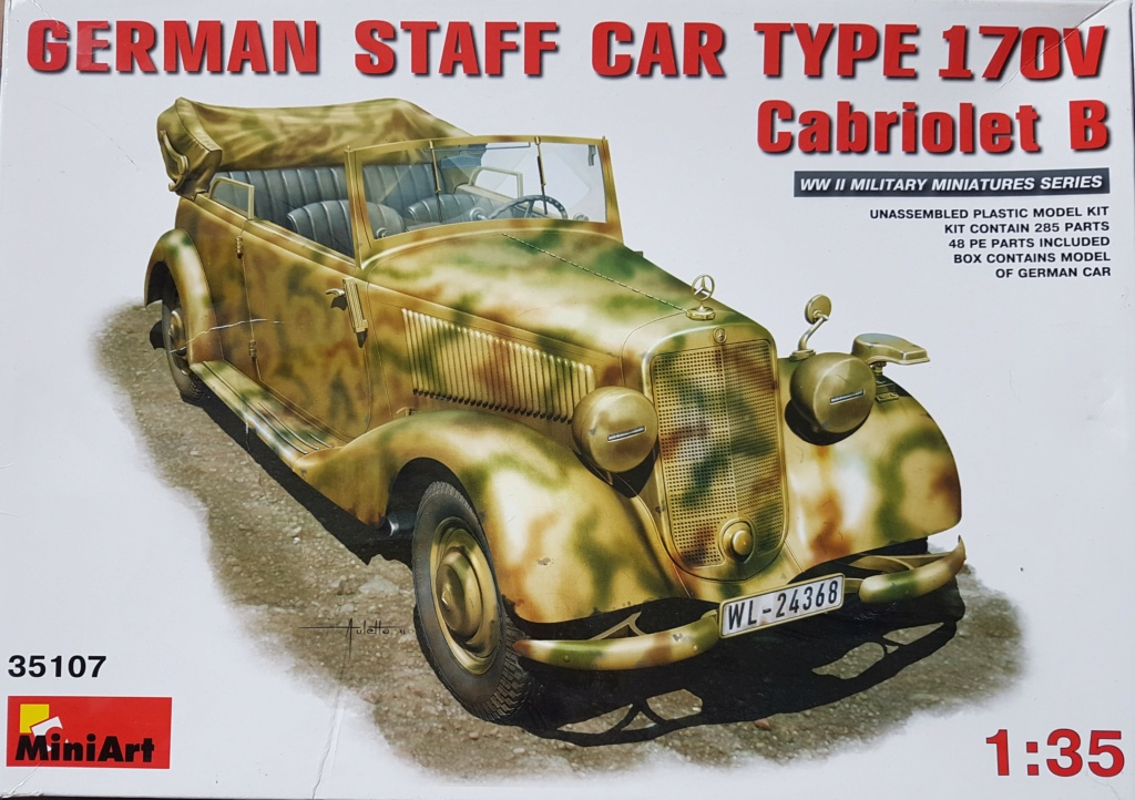 Cabriolet B type 170 Miniart 1:35 et equipage 20200910