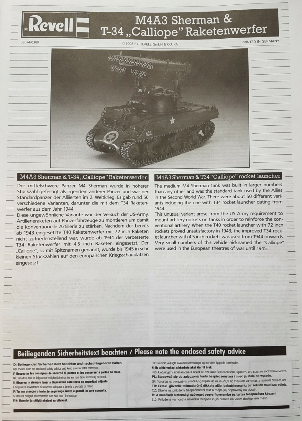 "Fil rouge 2021 * Sherman ""calliope"" Revell 1/35 (terminé en page 11) 20210111"
