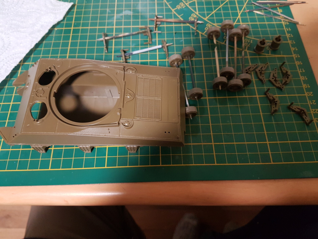 """Fil rouge 2021 * Sherman """"calliope"""" Revell 1/35 (terminé en page 11) - Page 2 20210129"""