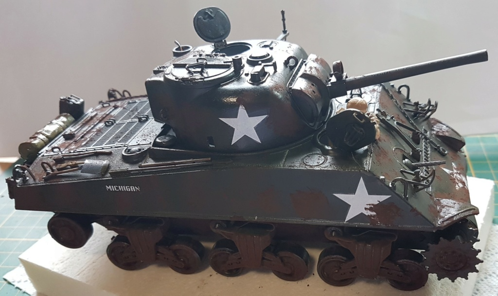 """Fil rouge 2021 * Sherman """"calliope"""" Revell 1/35 *** Terminé en pg 11 - Page 9 20210325"""