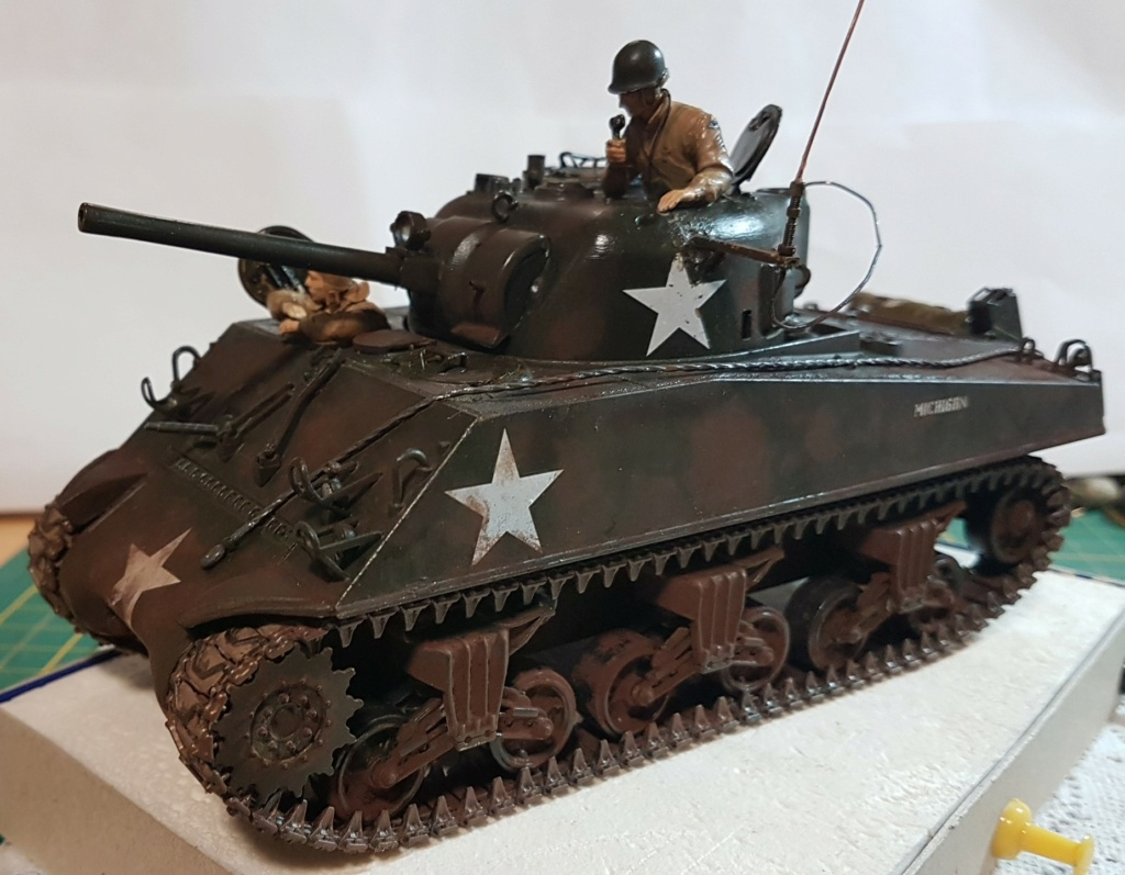 """Fil rouge 2021 * Sherman """"calliope"""" Revell 1/35 *** Terminé en pg 11 - Page 9 20210330"""